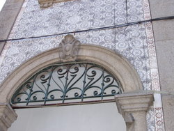 arch at the entrance door.