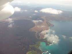 ariel view of the Galapagos