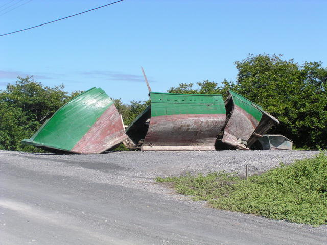 Boat after hurricane - free image