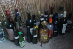 Bottles of drinks