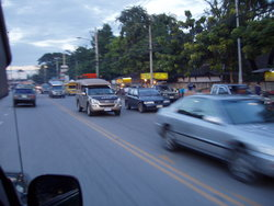 busy road in Thailand