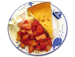 cake with strawberry and crem