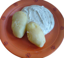 curd and potatoes