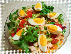 egg and meat salad