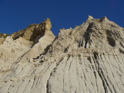eroded mountain slope