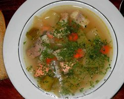 Fennel fish soup