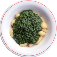 Gnocchi with Spinach paste