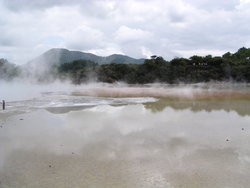 hot spring in a valley
