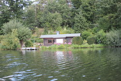 House besides the lake