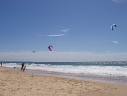 kites and beach