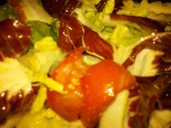 leafy salad with tomatoes