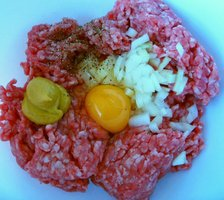 marinating minced meat