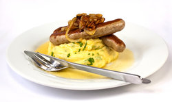mashed potatoe and sausage