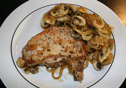 meat chops with vegetables