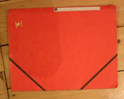 red covered file