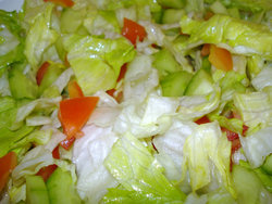 Salat with dressing