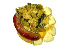 savoy cabbage with Sausage