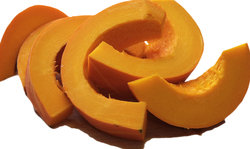 sliced pumkin