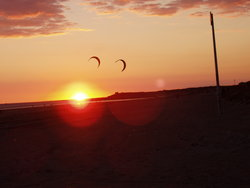 sunset and kites