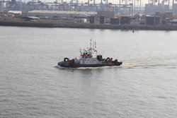 tugboat moving