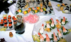 various kinds of sushies