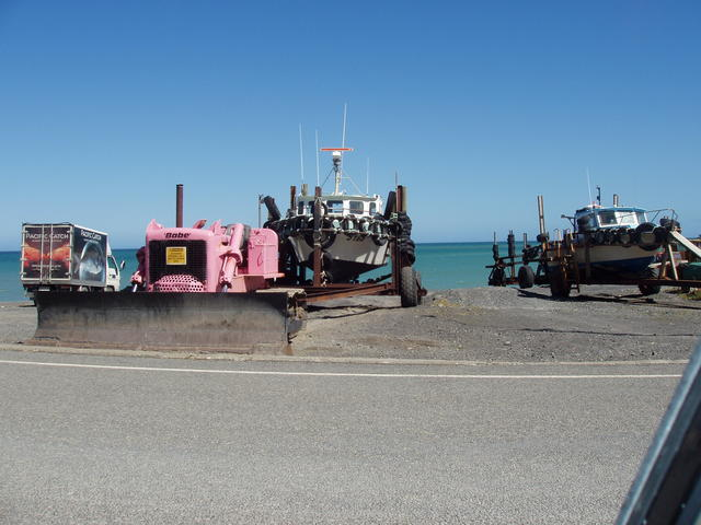 vehicles at seashore - free image