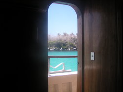 view out of the ship